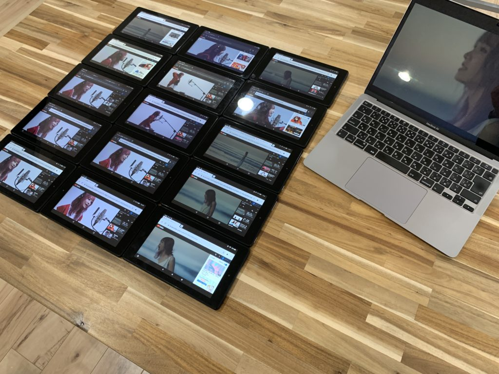 タブレット15台とパソコン1台で計測